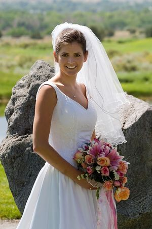 a bride poses Stock Photo - 305235