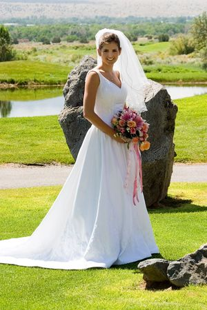 a bride poses photo