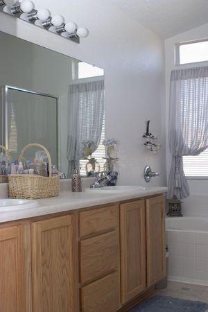 a modern bathroom Stock Photo
