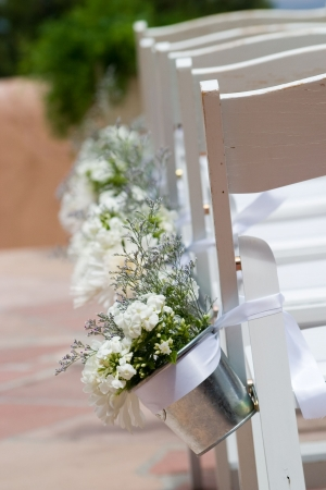 aisle chairs at a wedding