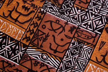 regalia: aboriginal design from a native cloth Stock Photo