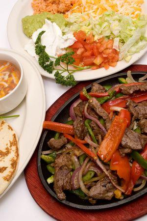 traditional fajitas (meal)