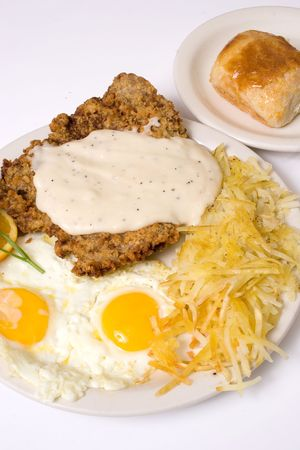 chicken fried steak 스톡 콘텐츠