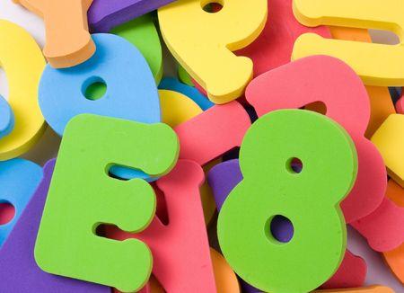 colored school: alphabet pile Stock Photo