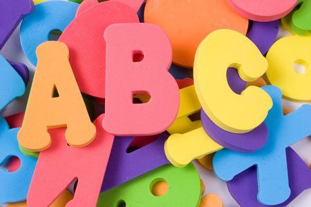 alphabet pile Stock Photo