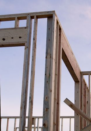 2x4: construction corner Stock Photo