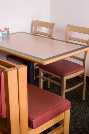 absent: common restaurant booth