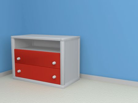 bedroom 3d render with space for message Imagens