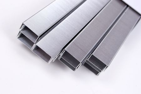 staples: abstract bars of staples Stock Photo