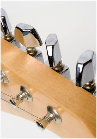 tuning knobs for a electric guitar photo