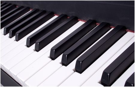 chorale: closeup of keyboard keys