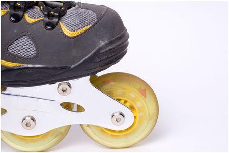 rollerblade: closeup of rollerblade wheels
