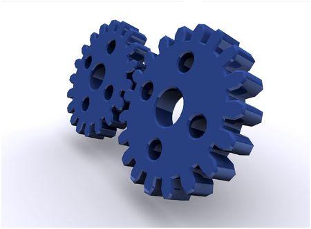 3d gear concept render