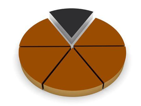 3d pie chart render Reklamní fotografie - 355646