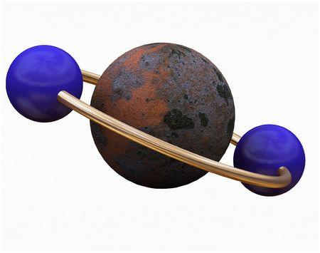 shiny globe abstract