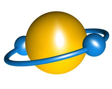 plastic globe abstract
