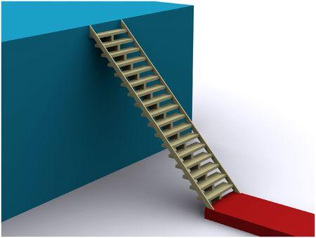 climbing concept render Stock Photo