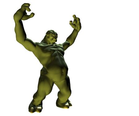 terrify: monster 3d render