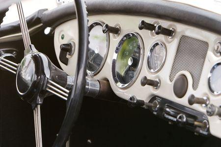 vintage car dash