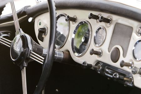 vintage car dash photo
