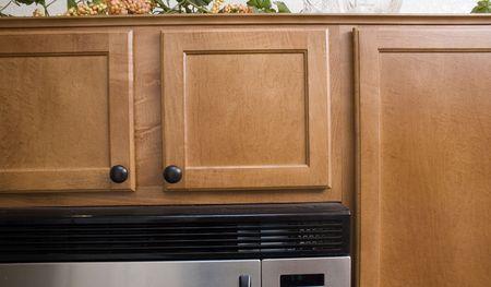 closeup of modern kitchen cabinets Imagens