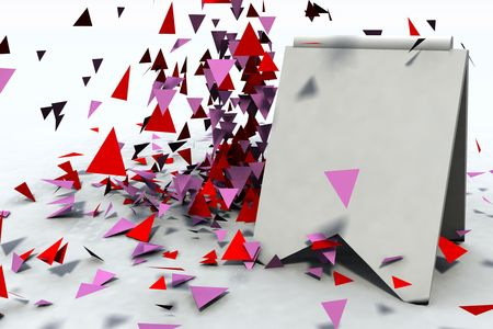 a blank sales display border with blowing confetti Imagens
