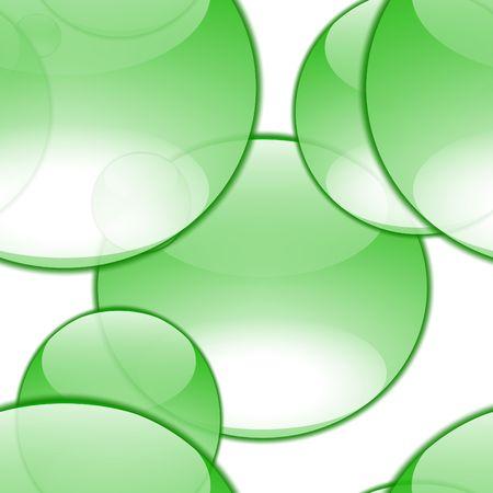 green aqua bubble of random sizes and shapes Stock Photo