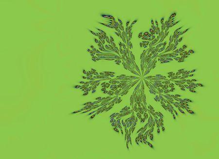 fractal flower design with multiple colors and green background Reklamní fotografie
