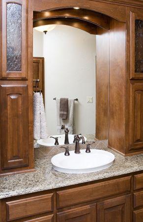 elegant bathroom in luxury home