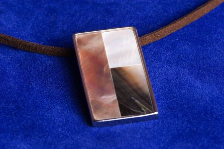 mother of pearl: necklace with authentic mother of pearl shells Stock Photo