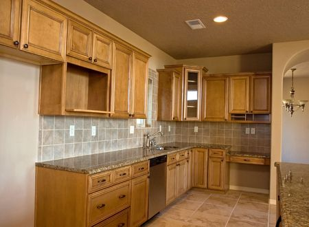 brand new empty kitchen waits for its new owners