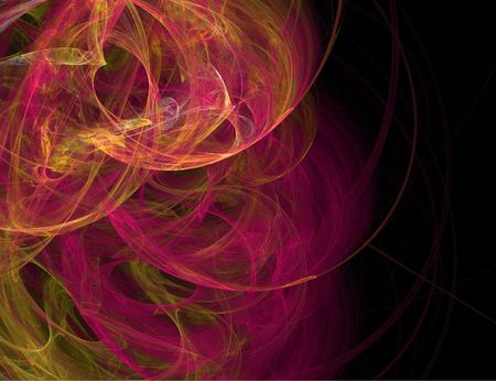 red and orange fractle circles on left side Stok Fotoğraf