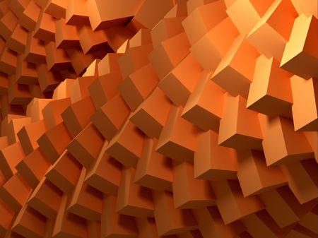 starr: Spirale der Orange gruppiert W�rfel