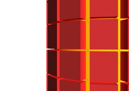red cubes surround yellow core for protection