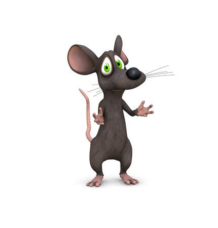maus cartoon: eine 3D-Maus gemacht lockt mit h�bschen Gesicht