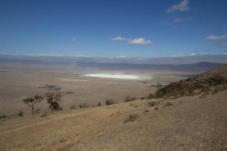 crater lake: Ngorongoro Crater Salt Lake