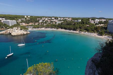 menorca: Cala Galdana bay and beach, Menorca, Spain Stock Photo
