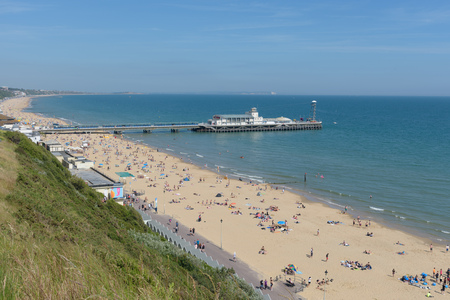 Bournemouth beach and pier looking towards Boscombe
