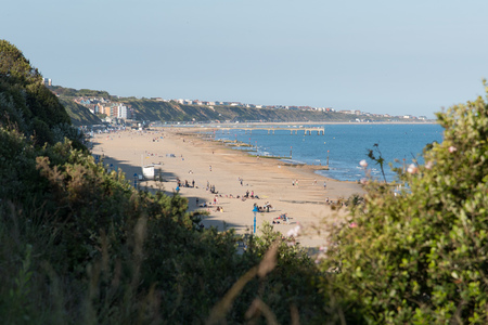 groynes: Boscombe beach and pier viewed from Bournemouth