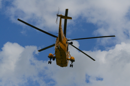 Sea King Search and Rescue Helicopter From Rear Editorial