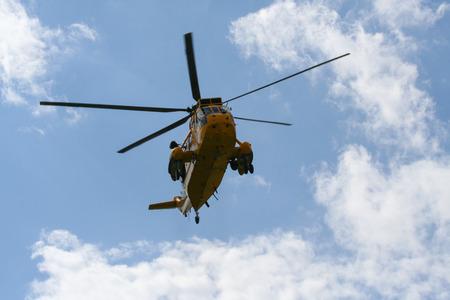 Sea King Search and Rescue Helicopter From Front Editorial