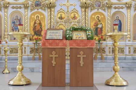 Russian Orthodox Church interior Editorial