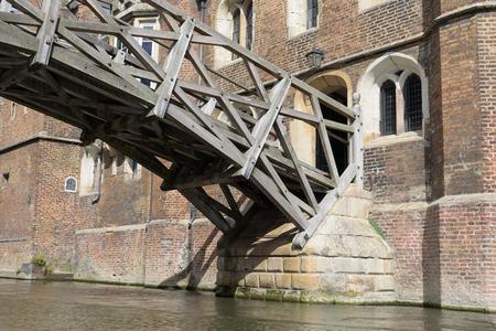 Mathematical Bridge at Queens College, Cambridge, England Editorial