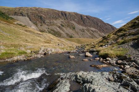 Stream near the path whilst descending Helvellyn near Glenridding
