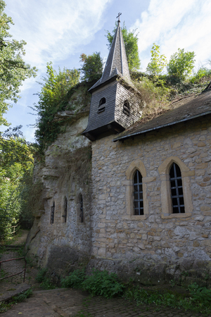 Chapelle Saint-Quirin carved into the rock in Luxembourg