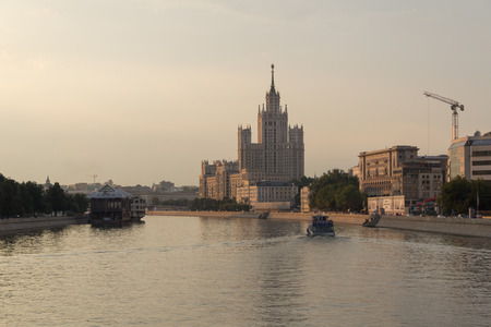 Kotelnicheskaya Embankment Building viewed from the Moskva River