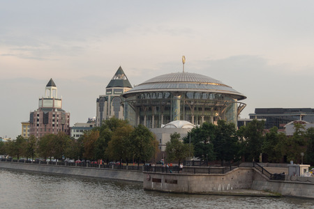 Moscow International House of Music viewed from the Moskva River