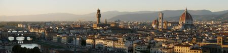 Autumn sunset at Florence, Italy, taken from the Piazzale Michelangelo