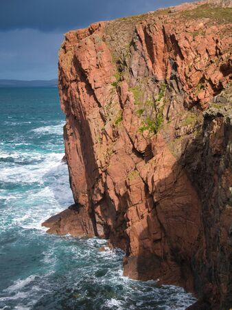 Sea cliffs near North Ham on Muckle Roe, Shetland, Scotland, UK Stockfoto