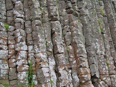 Basalt columns at Giants Causeway on the Antrim Coast, Northern Ireland, UK Standard-Bild